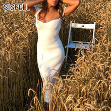 Женское трикотажное платье sispell элегантное с квадратным воротником