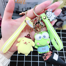 2019 New Cartoon Epoxy Pudding  The frog Key Chain Big Ear Dog Cool Penguin Cute Keychain Bag Pendant Gift Women