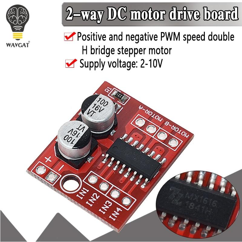 10pcs//lot 2 DC Motor Drive Module Reversing PWM Speed Dual H Bridge Stepper Motor for Smart Car Victory L298N