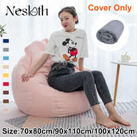 Nesloth Lazy BeanBag Sofas Cover Chairs without Filler Velvet Lounger Seat Bean Bag Pouf Puff Couch Tatami Living Room 3 Sizes