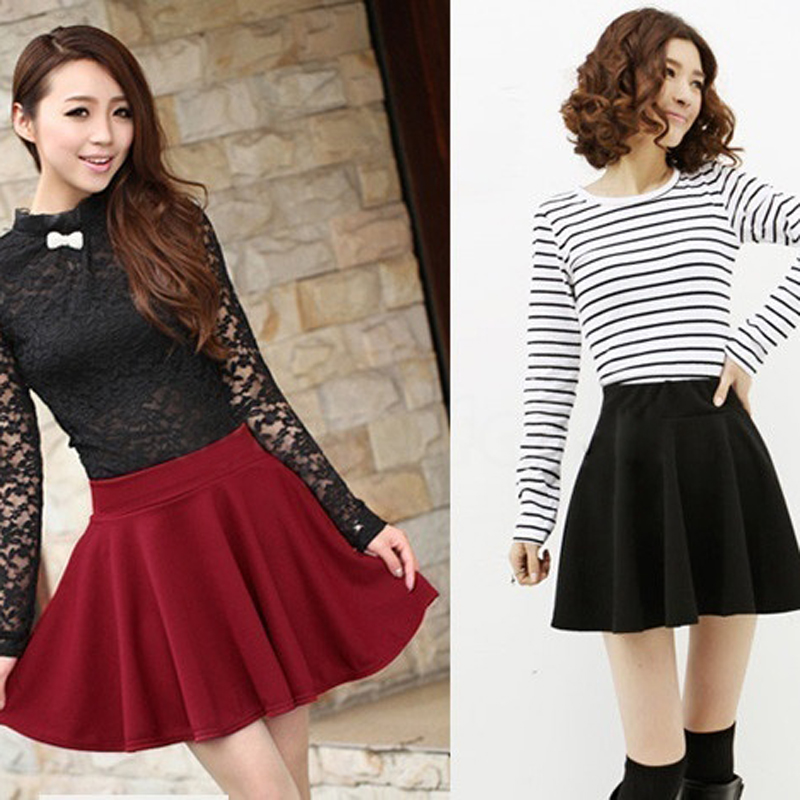 New New Women Skirt Sexy Mini Short Skirt Fall Skirts Womens Stretch High Waist Pleated Tutu Skirt SCI88