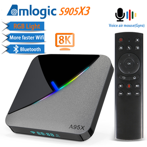 A95X F3 Air RGB Light Android 9.0 TV BOX 8K 4K Youtube Amlogic S905X3 Netflix wifi 2GB 4GB 16GB 32GB 64GB Set Top TV Box(China)
