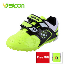 BLOON Boys Soccer shoes Sneakers Children Kids Indoor Football Shoes S