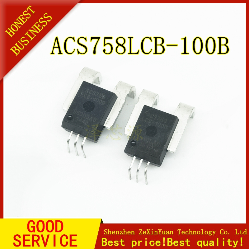 2pcs/lot ACS758LCB-100B ACS758LCB-100B-PFF-T ACS758 ACS758LCB In Stock