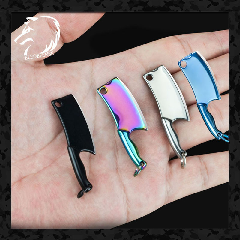 New 2020 Mini Pocket Knife Key Chain Fixed Blade Knives Survival Tool Hunting Military For Man Women With Leather Case Gift