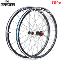 Novatec Road bike wheel set 700C bearing vacuum aluminum alloy 7 11 speed V brake 20/24H Quick release bicycle wheels