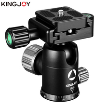 """Buy KINGJOY Official G00 Tripod Head Ball Head Rotating Panoramic BallHead with plate 1/4"""" to 3/8"""" Screw for Monopod DSLR Camera directly from merchant!"""