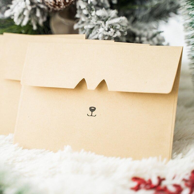 20pcs/lot Cut Pet Wallet Envelopes Postcard Letter Stationery Paper Airmail Retro School Office Gifts Kraft Envelopes