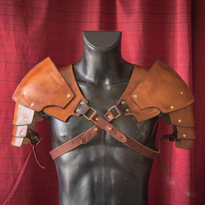 viking warrior medieval gladiator samurai battle knight pauldrons shoulder armor PU renaissance Halloween party Cosplay props(China)