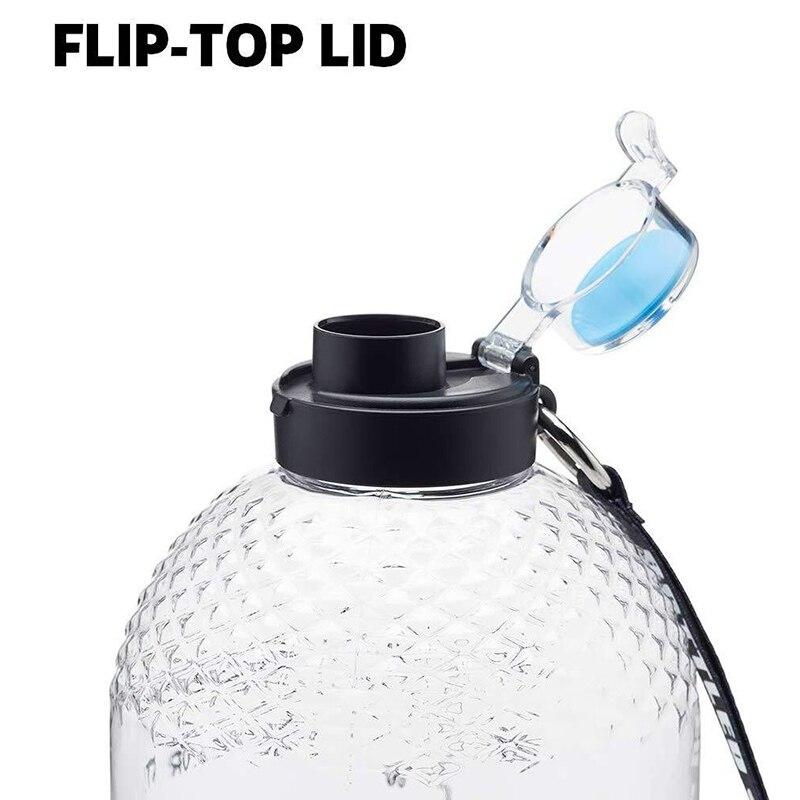 Bottled Joy 1 Gallon Water Bottle Sport Outdoor Jug Camping Portable Travel Large Drinking Plastic Bottle Tour Water Bottles