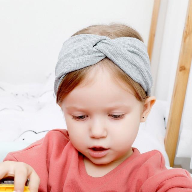 New Soft Elastic Cotton Newborn Girls Knit Hats 4
