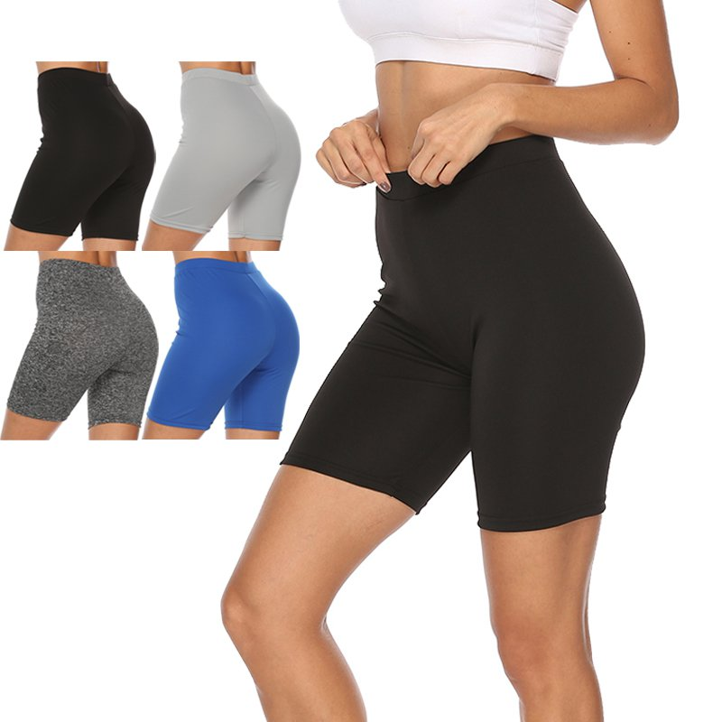 Z 2019 Sports Shorts Solid Color Fitness Shorts Ladies Tight High Waist Stretch Fitness Shorts Exercise Ladies Sports Shorts