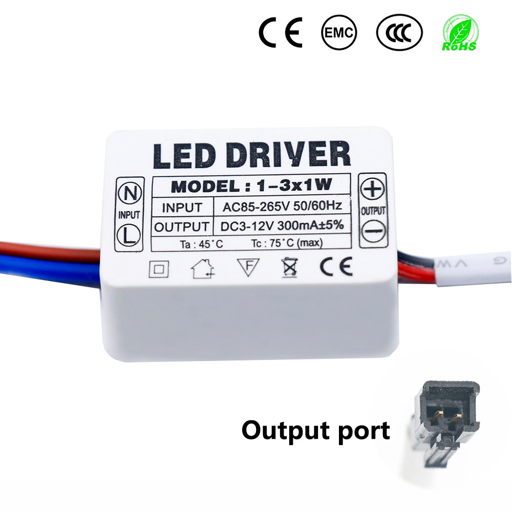 LED Driver 300mA 1W 3W 5W 10W 15W 18W 20W 25W 30W 36W LED Power Supply Unit AC85-265V Lighting Transformers For LED Lights DIY