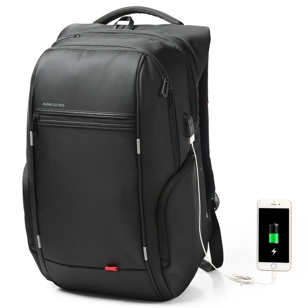 Jenyd Business Laptop Backpack Water Resistant Computer Bag With USB Charging Port, School Rucksack Travel Backpack