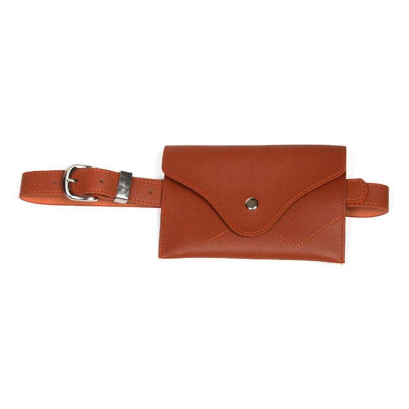 NEW-Women Fanny Pack, PU Leather Fanny Pack With Removable Belt Waist Pouch Fashion Girls Belt Bum Fanny Bag Brown