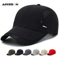 Einstellbare Sommer Baseball Caps für Männer Frauen Outdoor Sport Sonnenhut Lauf Visor Cap Casual Atmungsaktive Snapback Hüte Mesh Caps