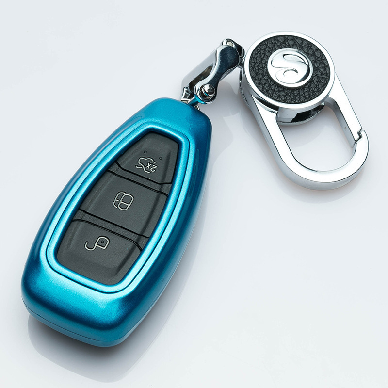 Beautiful New ABS Painted Car Key protection Shell For <font><b>FORD</b></font> C-MAX FOCUS RS <font><b>ST</b></font> Fiesta Hatch Car Styling <font><b>Keyring</b></font> Shell Accessories image