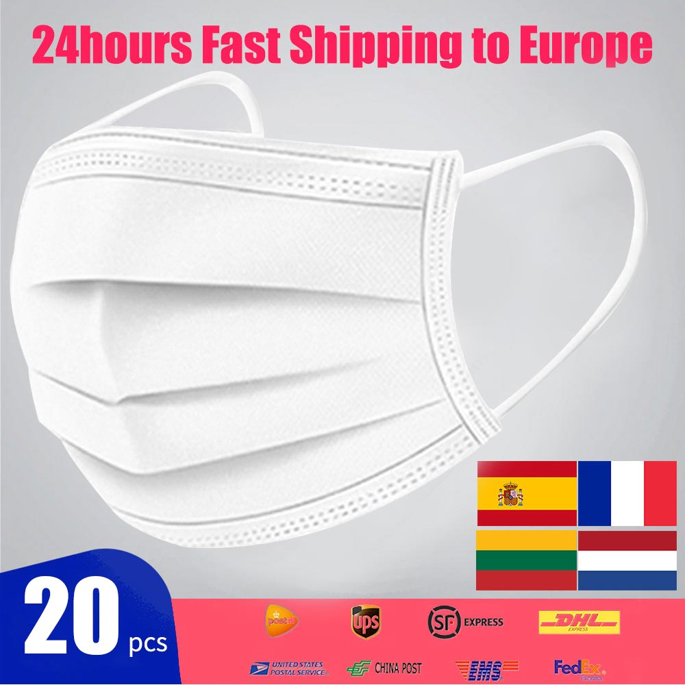 500/1000Pcs Disposable Anti Virus Mask Mascherine Antivirus Mouth Mask Non N95 KF94 FFP2 Face Mask Facial Mask PM2.5 Respirator