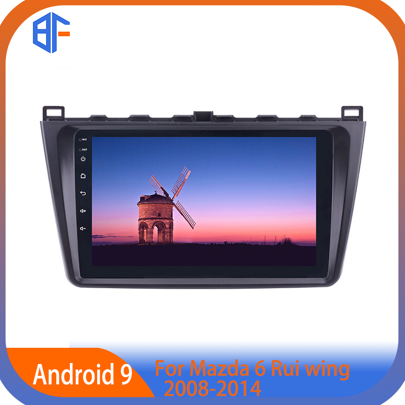 BF Car MP5 Player Car Radio Android 9.1 Car <font><b>GPS</b></font> <font><b>Navigation</b></font> for <font><b>Mazda</b></font> <font><b>6</b></font> Rui wing 2008 2009 2010 2011-2014 image