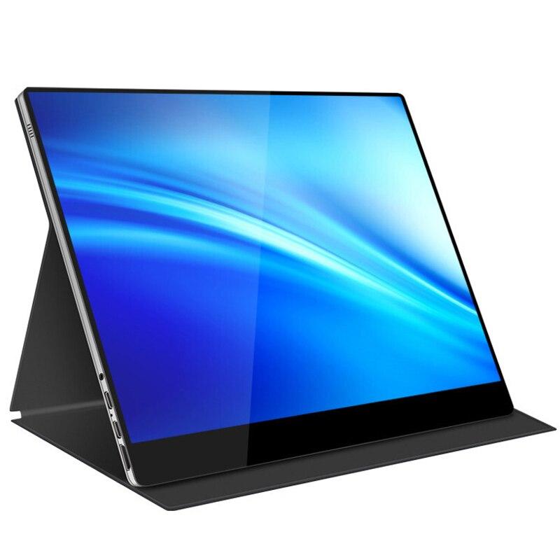 El monitor portátil más nuevo del fabricante 15,6 pulgadas 1920*1080 full HD con USB tipo-c para ampliar la segunda pantalla del juego de portátil de PC móvil
