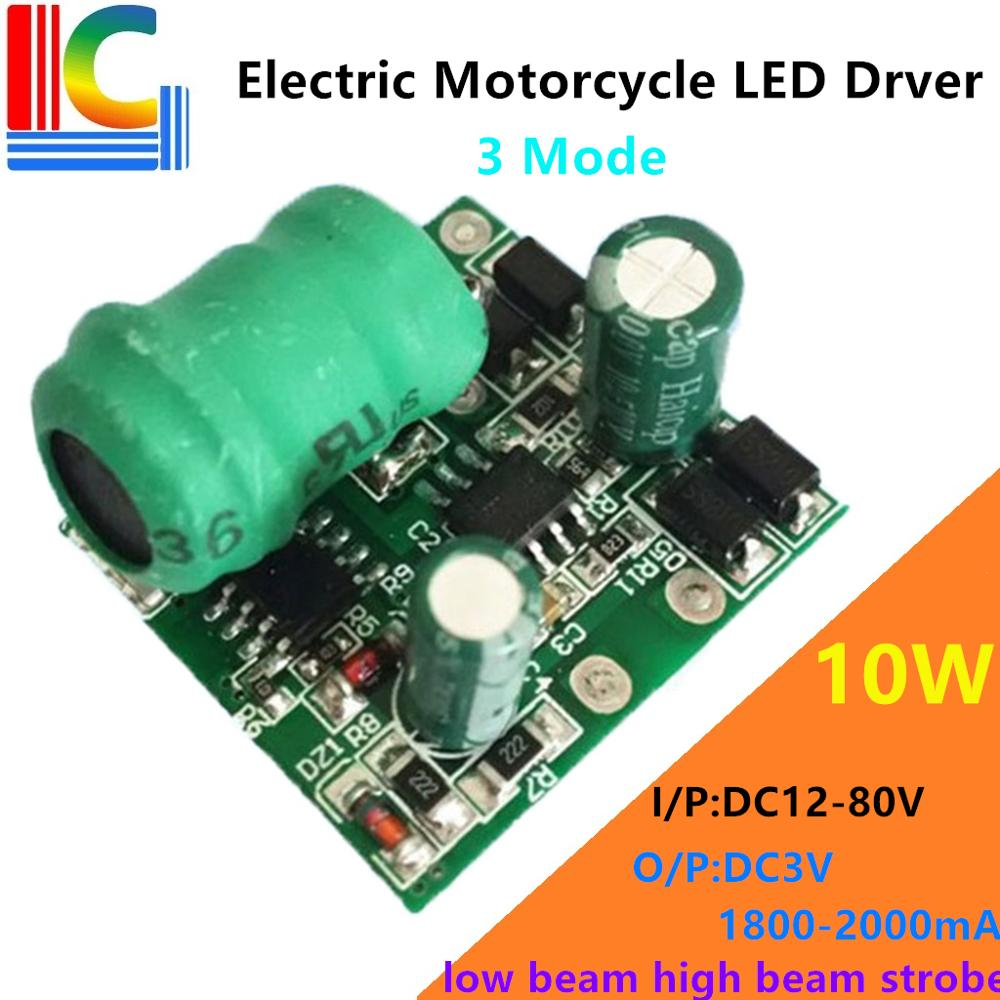 low beam high beam strobe 3 mod Automobile electric vehicle motorcycle <font><b>LED</b></font> light <font><b>Driver</b></font> 12V to 80V Output <font><b>3V</b></font> 2000mA Power Supply image