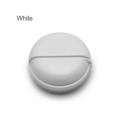 Проводная коробка для наушников, органайзер, кабель для передачи данных, чехол для хранения, круглый пластиковый контейнер, ювелирные изделия, защита для наушников с Вращающейся Крышкой - Цвет: white