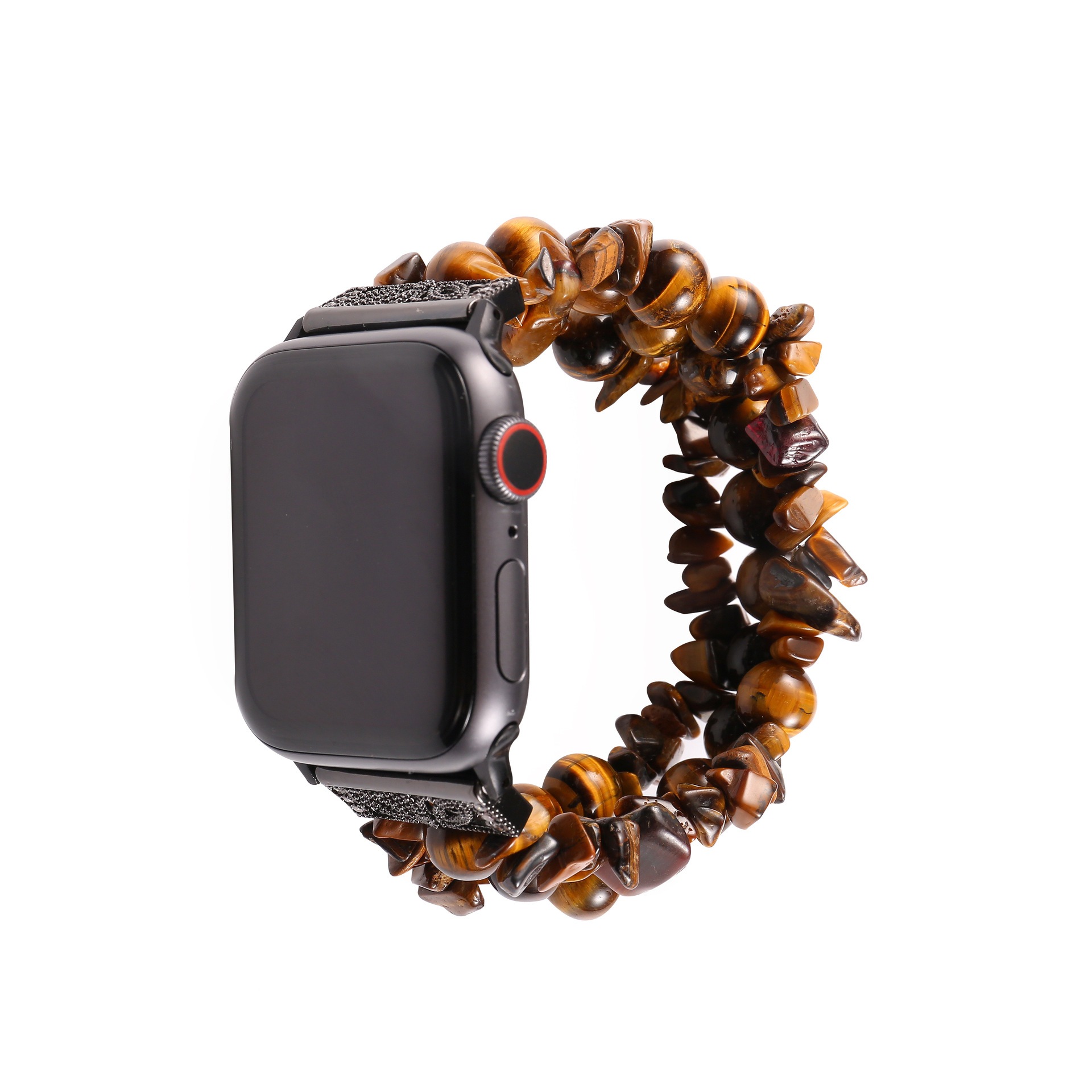 Suitable For APPLE Watch34 Generation Apple Watch Strap Three Rows, Four Rows Rough Stone Beaded Bracelet Hanging Decoration Wat