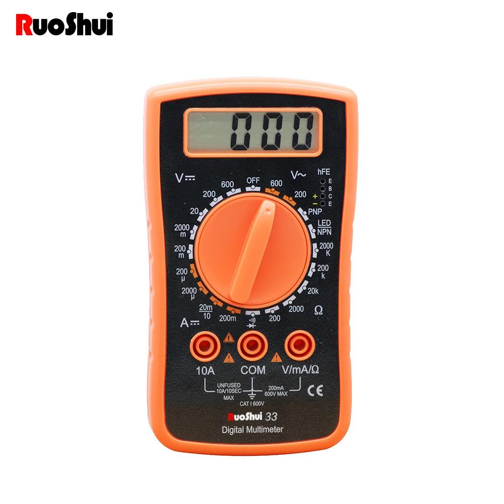 RuoShui-multímetro Digital portátil, amperímetro de CA/CC, voltímetro Ohm, NCV, probador de voltaje, Lcr, retroiluminación LCD