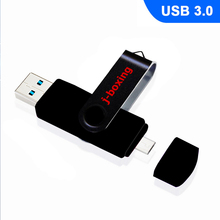 J-boxing OTG USB 3.0 Flash Drive 64GB Dual Port Pendrive High Speed Micro Memory Stick For PC Macbook Tablet Huawei Xiaomi