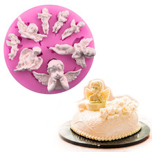 Cake Mold Angel Baby 3D Silicone Mold Chocolate Candy Molds Fondant Cake Decorating Tools DIY Fondant Soap Pastry Baking Mold 3d owl animal silicone soap mold resin clay candle molds fondant cake decorating tools chocolate candy pastry cake baking molds