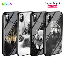 Black Cover Fashion Black Wolf for iPhone X XR XS Max for iPhone 8 7 6 6S Plus 5S 5 SE Super Bright Glossy Phone Case black cover lovely cat for iphone x xr xs max for iphone 8 7 6 6s plus 5s 5 se super bright glossy phone case