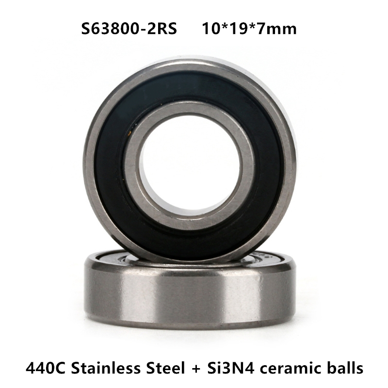 7x19x6mm 10 Pcs Metal Double Shielded Ball Bearing Bearings 7*19*6 607ZZ