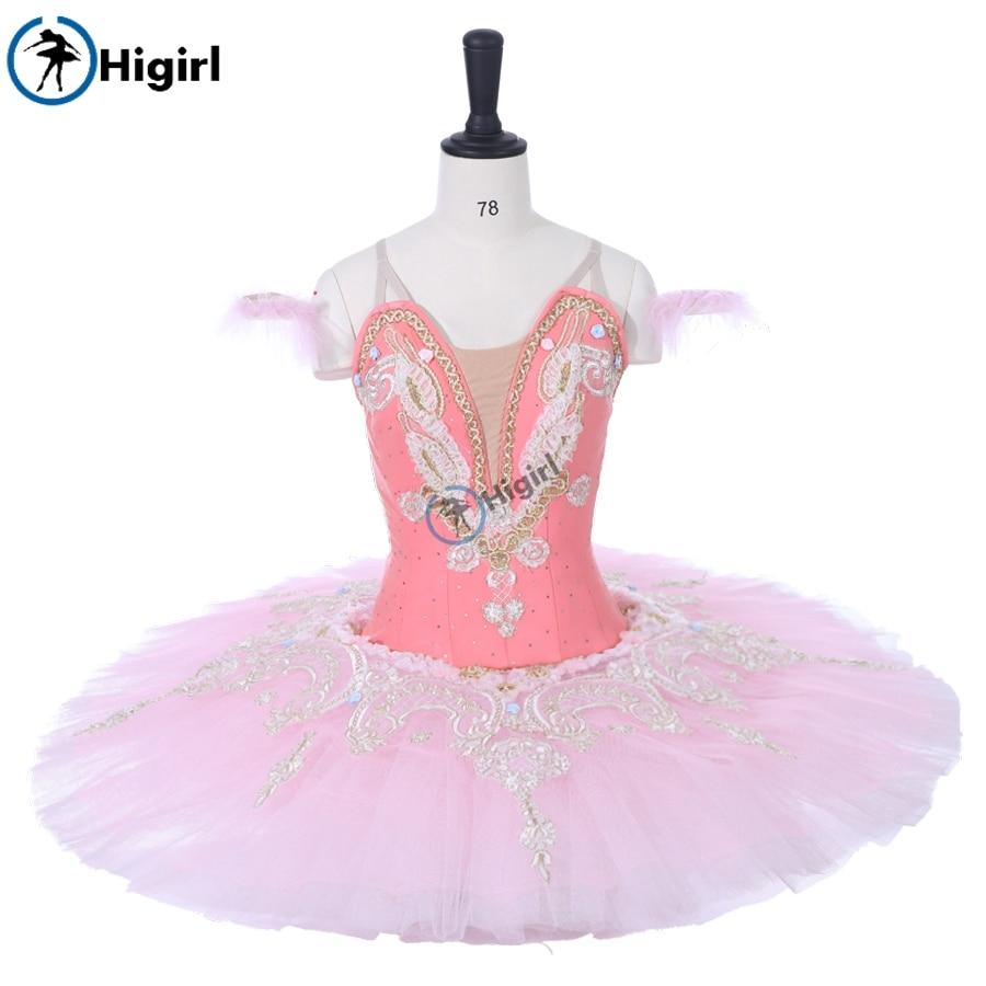 Nutcracker Professional Ballet Tutu Pink,Women Sugar Plum Fairy Performance Doll Classical Stage CostumeBT9059A