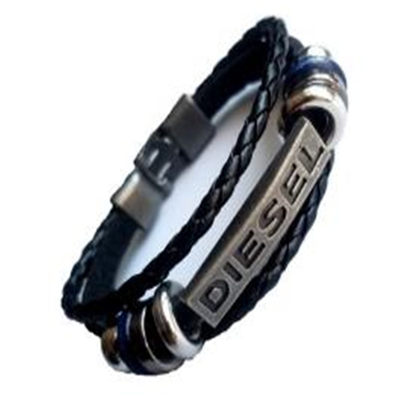 2019 Punk Men Jewelry Braided Vintage Multilayer Leather Bracelet Men Handmade Bracelet Metal Alloy Clasp Male Wristband Jewelry