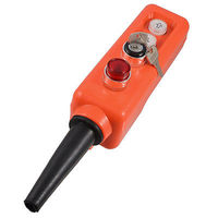 220V Key 2 position Selector Momentary Red Lamp Up Down Hoist Push Button Switch