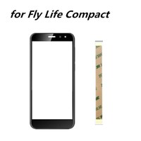 4.95inch touch screen for  Fly Life Compact Glass Panel Touch Screen Digitizer for  Fly Life Compact cell phone