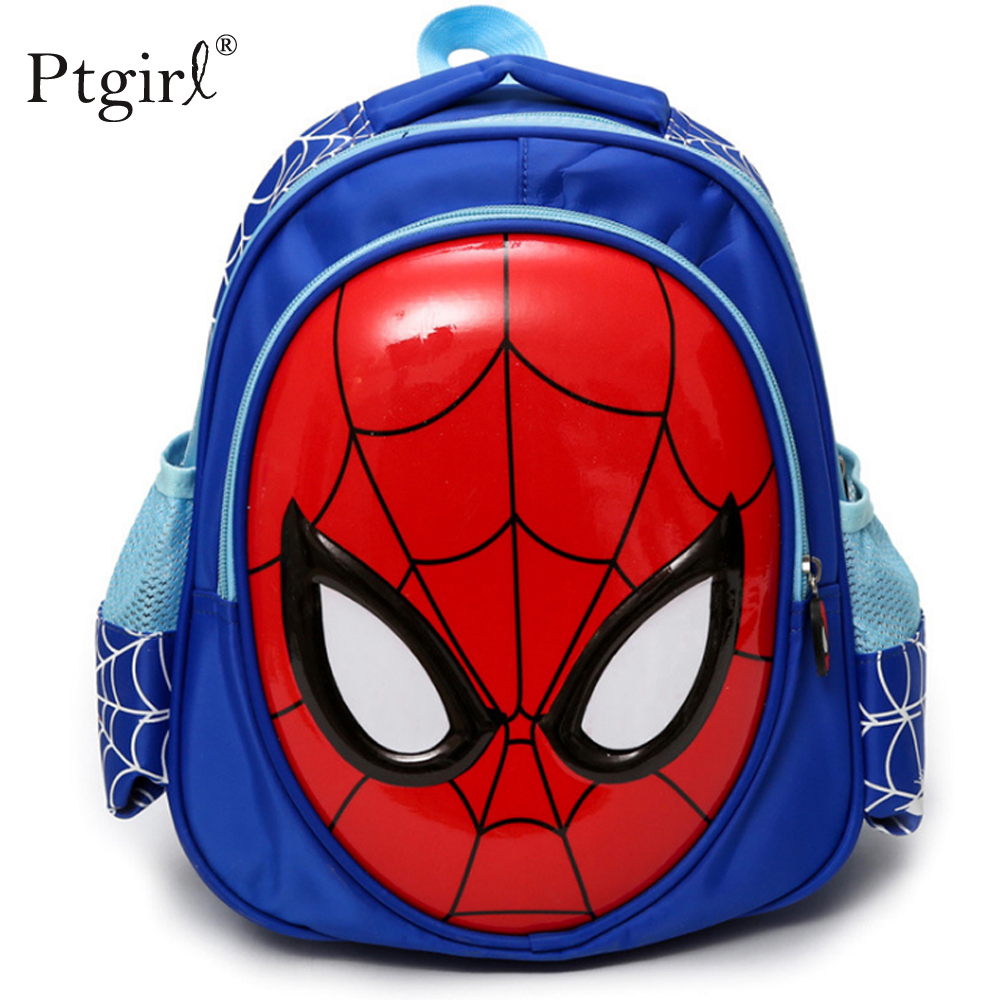 2020 3D 3-6 Year Old School Bags For Boys Waterproof Backpacks Ptgirl Child Spider Book Bag For Children Cartoon Knapsack Sac