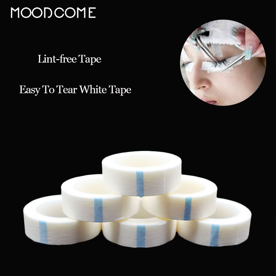 Wholesale 1/5 Pcs Eyelash Extension Professional Medical Waterproof Tape Micro Breathable Easy To Tear Lint-free White Silk Tape