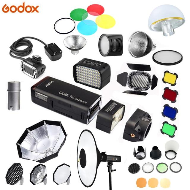 Godox çok fonksiyonlu Aksesuarları AD S17/BD 07/AD L/H200R/EC200/AD B2/RS18/AD S2 /AD S7/AD M Flaş aksesuar için AD200 Flash