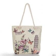 Складная хозяйственная сумка Эйфелева Башня Биг-Бен с принтом Льняная сумка на плечо Большая вместительная сумка-тоут холщовые сумки для покупок