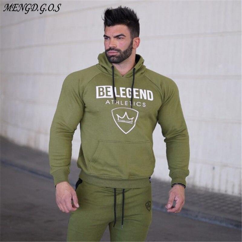 Free shipping men's fashion brand hoodie fitness bodybuilding sweatshirts head sportswear men's casual jacket clothing