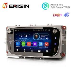 "Image 2 - Erisin ES6909FS 7 ""64G Android 10.0รถมัลติมีเดียGPSวิทยุWiFi BTสำหรับFord Mondeo Focus Galaxy"