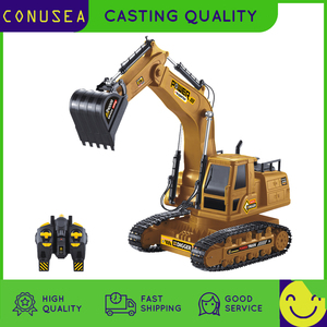 1/18 RC Truck RC Excavator 2.4G Radio Controlled Car Caterpillar Tractor Model Engineering Car Digging Soil Sound Toys For Boys