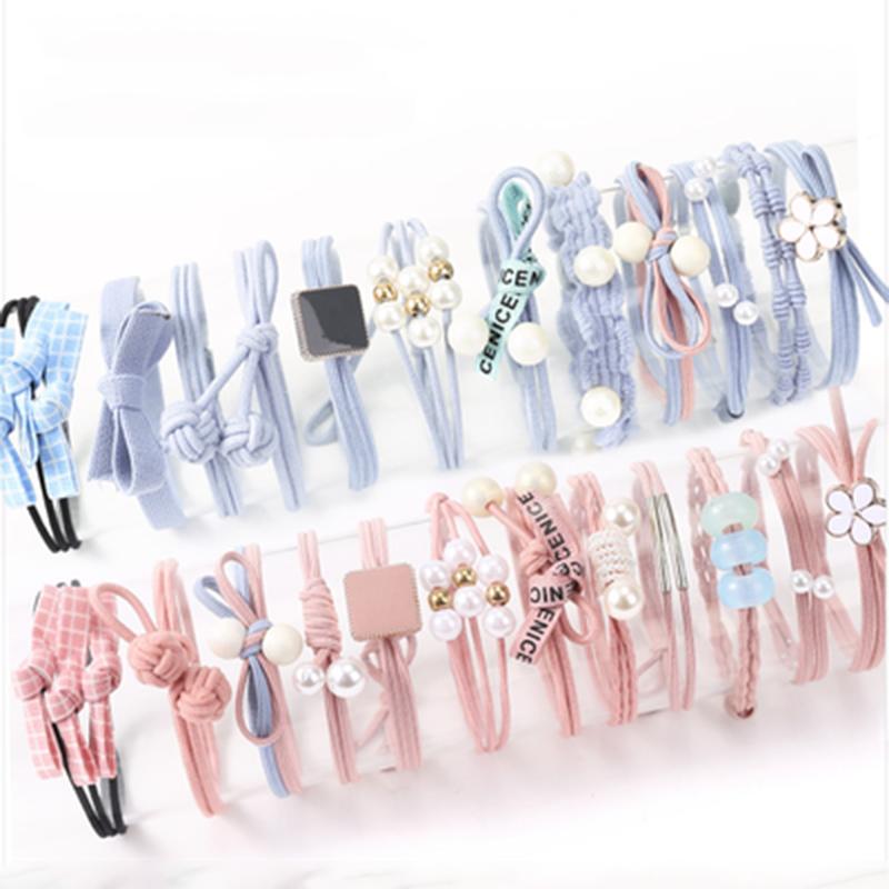 Аксессуары для волос 8 шт., красивые эластичные резинки для волос для женщин, резинка для завязывания, резинки, модные резинки для волос, держ...