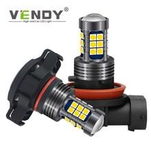 Lâmpadas de farol de led para carro, 1 peça, 12v, h8, h11, h10, 9145, h16, 9006, hb4, psx24w 2504 lâmpada de corrida automática 9005 hb3 psx26w p13w, lâmpada drl