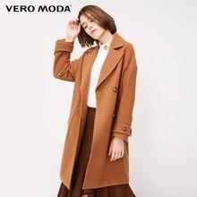 Vero Moda damska klapa dwurzędowy wełniany płaszcz | 318327564