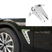 For Bmw X3 G01 2018 2019 Exterior Accessories OutSide Wing Fender Air Vent Cover Trim Abs Chrome Car Styling Sticker 2pcs
