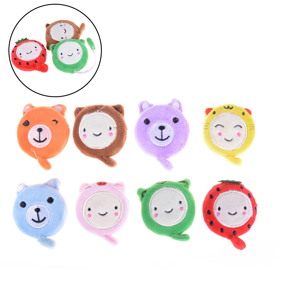 150cm 60 Inch Cute Cartoon Plush Retractable Tape Measure Ruler Sewing Tool Tape Measures Resultswa