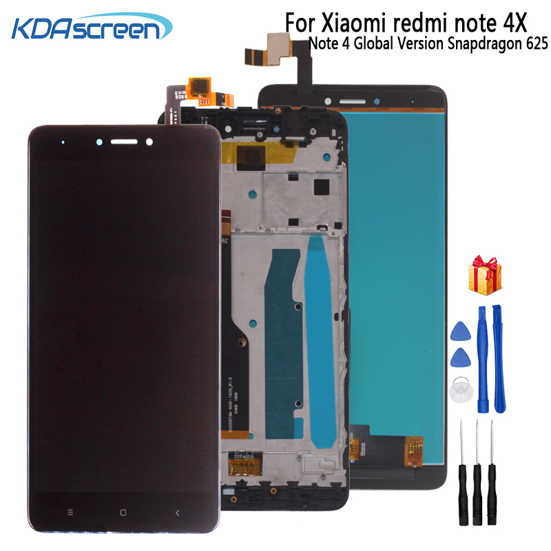 AAA Quality For <font><b>Xiaomi</b></font> <font><b>Redmi</b></font> Note <font><b>4X</b></font> <font><b>Display</b></font> With <font><b>Frame</b></font> Note 4 Global Version Snapdragon 625 LCD <font><b>Display</b></font> Touch Screen Digitizer image