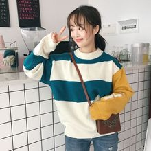 Spring and Autumn Womens 2019 New Korean Academy Wind Sweet Loose Padded Turtleneck Long Sleeve Sweater